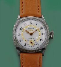 Vintage 1902 Exotic Porcelain Dial Elgin Antique Men's Wrist Watch