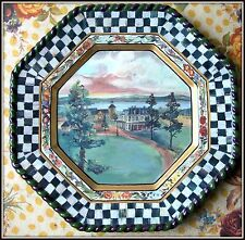 NEW 1991 ~ LONG RETIRED MACKENZIE CHILDS MACLACHLAN DINNER PLATE COURTLY CHECKS