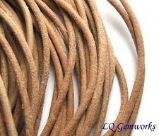 2 ' GENUINE GREEK LEATHER 2mm Cord NATURAL