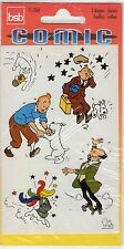 TINTIN RARE PLANCHE AUTO COLLANTS ALLEMAGNE ANNEES 1980 SOUS BLISTER