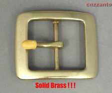 "Solid Brass Vintage Tongue Pin Hippie Belt Buckles for 1 1/2"" belt Z065"