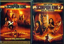 SCORPION KING 1-2-3: Rise of the Warrior The Rock & Randy Couture NEW 3 DVD