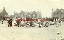 REAL PHOTOGRAPHIC POSTCARD OF A CHURCH EVENT AT SALTCOATS, AYRSHIRE, SCOTLAND