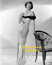 MYRNA LOY 8X10 Lab Photo B&W 1920s SEXY Fashion Elegance, Amazing Gown Portrait