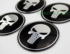 4x Motorcycle Skull Round Fuel Tank Fairing Decal Sticker Badge Emblem Harley