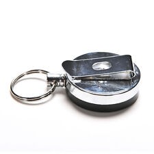 1 Pcs Metal Key Chain Stainless Steel Retractable Key Recoil Ring Pull Chain C24
