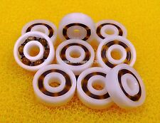 (10 PCS) 623 (3x10x4 mm) Plastic Nylon POM Ball Bearing Bearings 3*10*4