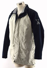 NAUTICA Men's Navy White Insulated Nylon Hooded J-Class Sailing Jacket ~ Sz L