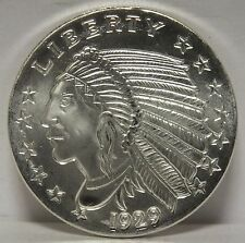 1~OZ ~ PURE .999 SILVER  ROUND ~ INDIAN HEAD ~ AWESOME ~ $9.99 ~AUCTION ~NO RES!