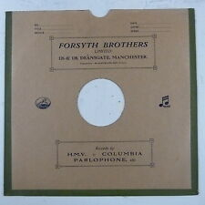 "record sleeve for 78rpm 12"" gramophone disc : FORSYTH BROS , MANCHESTER"