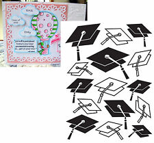 GRADUATION HAT embossing folders Darice folder 121848 Cuttlebug Compatible