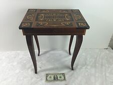 Vintage Reuge Jewelry Table with built in Music Box and Inlaid Marquetry