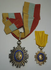 VENEZUELA ORDER OF THE LIBERATOR SIMON BOLIVAR GRAND CROSS MEDAL SET Vinatge