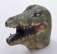 Latex Alligator Mask Large Realistic Gator Head Face Crocodile Green Adult Mens