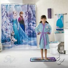 DISNEY FROZEN Elsa Anna Olaf Snow SHOWER CURTAIN New Girls Bath Bathroom Decor