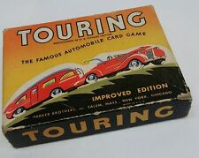 Vintage Touring Automobile Playing Card Game Complete w/box Parker Brothers USA