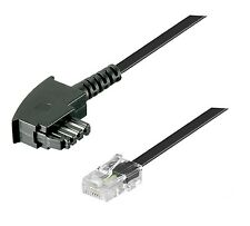 DSL Internet Router Kabel 15 m FritzBox Speedport EasyBox TAE F RJ45 schwarz 15m
