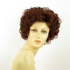 short wig for women curly dark brown intense coppery ref: KIMBERLEY 322 PERUK