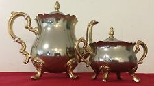 Vintage Gold Plated International Silver Tea Set