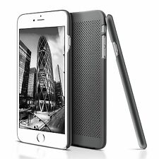 Ultra Slim Black Mesh Rubber Hard Plastic Back Case Cover For iPhone 6S iPhone 6