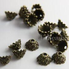 20pcs Antique Brass Tone Base Metal Findings-Cap 12x7mm (13355Y-T-1)