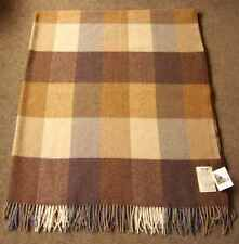 Avoca Lambswool Throw Rug Blanket 100% New Wool 142x183