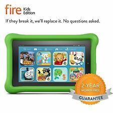 Amazon Fire Green Kids Edition Kindle 7 in Wi-Fi 16 GB - Kid Proof Case