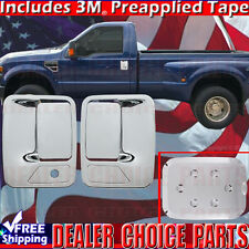 2011-2016 FORD F250 F350 F450 F550 SUPERDUTY Chrome Gas Door Handle COVERS 2DR