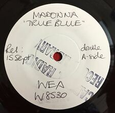 "MADONNA -True Blue- Rare UK 7"" Test Pressing/White Label Promo (Vinyl Record)"