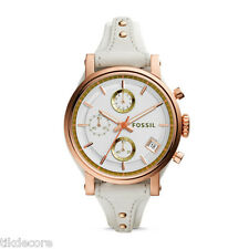 Fossil ES3947 Boyfriend Chronograph White Leather Watch