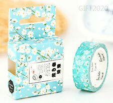 White Sakura Paper Sticky Adhesive Sticker Decorative Washi Masking Tape