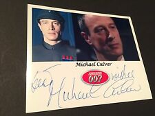 "MICHAEL CULVER ""007 James Bond"" signed Foto 10x13"