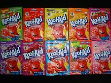 50 Kool Aid Drink Mix LEMONADE STRAWBERRY KIWI GRAPE BLACK CHERRY LIMEADE ORANGE