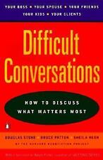 Difficult Conversations: How to Discuss what Matters Most by Douglas Stone, Bru