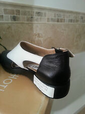 1.Cruise Derby style Leather Loafers Flats  BLACK WHITE SIZE 5
