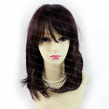 Gorgeous Soft Medium Long Black Brown mix Dark Auburn Ladies Wigs from Wiwigs UK