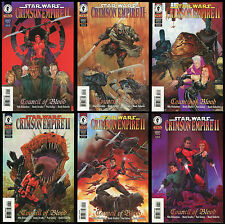 Star Wars Crimsom Empire 2 Council of Blood Comic Set 1-2-3-4-5-6 Lot Dorman art