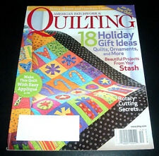 AMERICAN PATCHWORK & QUILTING MAGAZINE~DEC. 2006~HOLIDAY GIFT IDEAS~ORNAMENTS+++