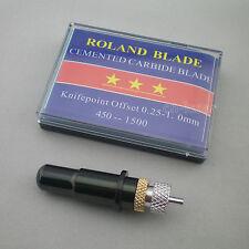 1x Messerhalter  + 15 Plottermesser 5x30°+5x 45°+5x60° plotter Roland GCC  Black