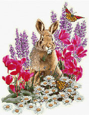 """Rabbit & Butterflies Counted  Cross Stitch Kit 12"""" x 15"""" Anchor,Animals/Insects"""
