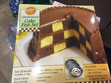 Wilton Checkerboard Cake Pan Set, New