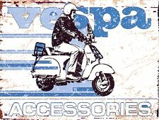 VESPA SCOOTER METAL SIGN RETRO VINTAGE STYLE SMALL