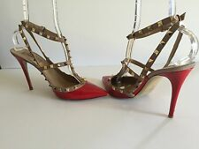 Valentino Garavani  Rockstud Red Patent Leather Pumps Shoes Size 42 EU / 12 US