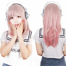 Lolita Costume Wig Long Straight Wavy Hair Cosplay Party Pink Ombre Mix Wigs