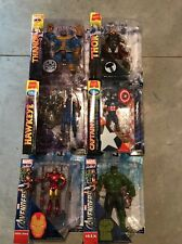 Marvel Select Avengers Lot- Thanos Thor  Hawkeye Captain America Iron Man Hulk