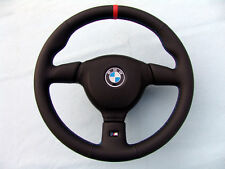 BMW M TECHNIC 2 STEERING WHEEL E36 M3, NEW LEATHER, 3 COL STITCHING, RED MARKING