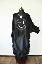 Lagenlook°BIG-Fledermaus-Shirt-Tunika°Strass°SMILEY°46,48,50,52,54,XL,XXXL,XXXXL