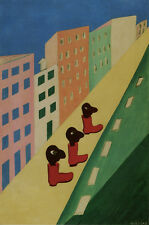 City-The Street    by Tarsila do Amaral  Giclee Canvas Print Repro