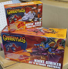 Gargoyles Night Striker Jet D'attaque Nocturne and Rippin' Rider Turbo roc'cycle