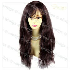 Super model Wild Untamed Black Brown & Auburn Long Curly Ladies Wigs WIWIGS UK